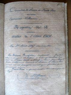 Registro de Franceses residiendo en Puerto Rico