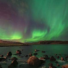 Aurora boreale in #Islanda