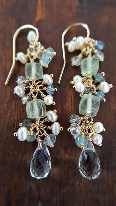 Gold Tone Multi Gemstone Dangle Earrings High Quality And Low Overhead Door Hardware & Locks