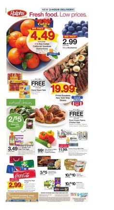 Explore the Ralphs weekly ad here! Isn't the Ralphs ad next week posting yet? We are posting Ralphs weekly ad sneak peek a few days before the deal issues. Bakery Menu, Digital Coupons, Weekly Specials, January 2, Sale Flyer, Weekly Ads, Grocery Store, Deli, Blueberry