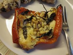 Roasted Red Peppers With Halloumi Recipe - Genius Kitchen