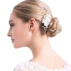 flower wedding headpieces #flowercombs #weddingcombs #bridalcombs