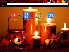 Halloween Candles Chrome Theme for Halloween Halloween Themes, Happy Halloween, Facebook Layout, Internet Explorer Browser, Halloween Candles, Iphone Wallpaper, Chrome