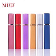 Hot Selling!! Fashion 12ml 1 Piece Aluminum Perfume Bottle With Mini Atomizer Spray Bottles Portable Parfum Container