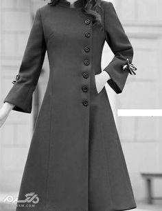 مدل پالتو زنانه ۲۰۱۹ ساده اروپایی با استایل های زیبا - پالتو بلند - Tesettür Hırka Modelleri 2020 - Tesettür Modelleri ve Modası 2019 ve 2020 Abaya Fashion, Muslim Fashion, Fashion Dresses, Fashion Clothes, Fashion Fashion, Jackett, Mode Outfits, Coat Dress, Mode Inspiration