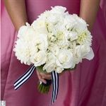 Beautiful white bridesmaid bouquet