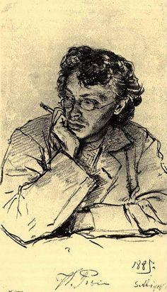 Ilya Repin (Russian, 1844-1930), Portrait of the painter Pervuchkin, 1885