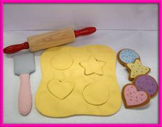 Wool Felt Play Food  Cookie Dough Baking Set by EvaLauryn on Etsy