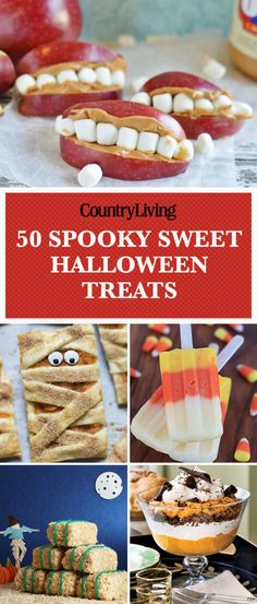 Save these halloween treat recipes for later by pinning this image and follow Country Living on Pinterest for more.