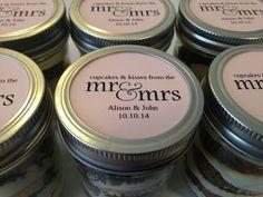 6 (8oz) Cupcakes In A Jar-Mason Jars-Wedding Favors-Favors-Wedding-Bridal Shower Favors-Bridal Shower-Hotel Guest Bag-Cupcakes ad Kisses
