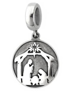 Nativity Scene Dangle Charm Bead - Pandora Compatible