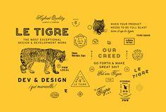 Le Tigre Squad – Portfolio of Bethany Heck Type Design, Layout Design, Design Web, Tag Art, Logo Branding, Branding Design, Design Visual, Typography Design, Lettering