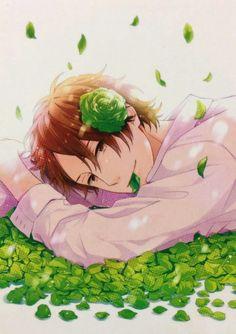 Nijiiro days   Keiichi with roses Days Anime, Anime Guys, Manga Anime, Otaku, Nijiiro Days, Anime Wolf Drawing, Manga Love, Beautiful Anime Girl, Manga Characters