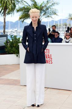 Fabulously Spotted: Tilda Swinton Wearing Chanel - 'Only Lovers Left Alive' 2013 Cannes Film Festival Photocall - http://www.becauseiamfabulous.com/2013/05/tilda-swinton-wearing-chanel-only-lovers-left-alive-2013-cannes-film-festival-photocall/