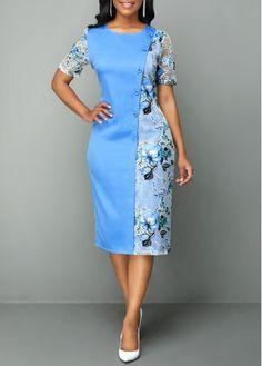 Zahra Cheap blue Dresses online for sale Short African Dresses, Latest African Fashion Dresses, African Print Dresses, African Print Fashion, Women's Fashion Dresses, Dress Outfits, Elegant Dresses Classy, Classy Dress, Cheap Blue Dresses