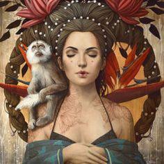 Panda, Mixed Media Canvas, Art Google, Female Art, Artwork, Art Pieces, Princess Zelda, Fantasy, Drawings