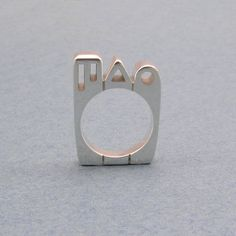 City Scape, Ring, Bauhaus Architecture, NYC, Skyline, Modern Buildings, Handmade, Artisan Designer, Sterling, Custom Design Jewelry, Gift