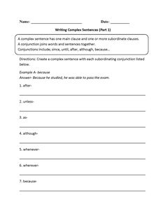 identifying clauses in complex sentences worksheet board pinterest complex. Black Bedroom Furniture Sets. Home Design Ideas