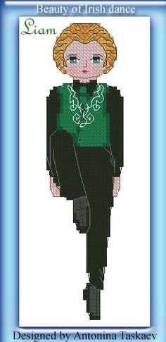 Beauty of Irish dance - Liam - cross stitch pattern https://www.etsy.com/shop/AntoninaDesign