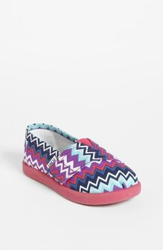 TOMS 'Classic Tiny - Zig Zag Pop' (Baby, Walker & Toddler) available at #Nordstrom