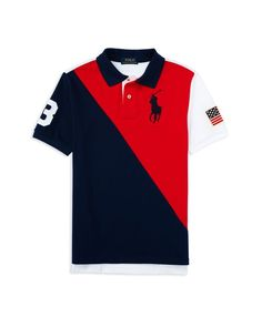 Ralph Lauren Childrenswear Boys\u0027 Color Blocked Big Pony Polo Shirt - Sizes  ...