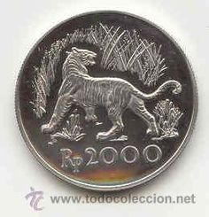 1974 Indonesian Java tiger coin
