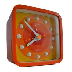 Rhythm 1970s Alarm Clock, Japan, via Flickr.