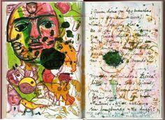 ¿Quién diría que las manchas viven y ayudan a vivir? Tinta, sangre, olor. No se que tinta usaría que quiere dejar su huella en tal forma. Respeto su constancia y haré cuanto pueda por huir de mi mundo, mundos entintados, tierra libre y mía. Soles lejanos que me llaman porque formo parte de su miedo. Tonterías ¿Que haría yo sin lo absurdo y lo fugaz? (Frida Kahlo)