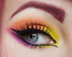 Colorful eye make-up  Looks like my show makeup