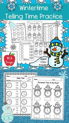 This product includes various no-prep worksheets that focus on telling time to the hour, half hour, and quarter hour. Worksheets are designed to help your students grasp a better understanding of how to tell time. This product is designed to be used as mini-lessons, supplements to larger lesson plans, extra practice, or homework. This product includes both a print and DIGITAL copy. The digital copy is great for DISTANCE LEARNING! #teacherspayteachers #tpt #winter Time To The Hour, 2nd Grade Activities, Correct Time, Math Workshop, Telling Time, My Teacher, Math Lessons, Teaching Math, Math Centers