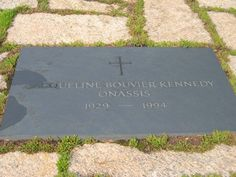 Final Resting Place of Jacqueline Bouvier Kennedy Onassis. Next to her first husband, President John F. Kennedy, in Arlington Cemetary.