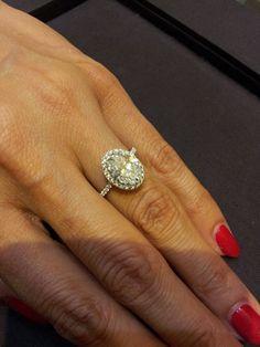 Harry Winston Сushion Сut Micropave Diamond Engagement Ring Price
