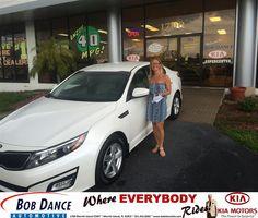 Congratulations to Abigail Long on your #Kia #Optima purchase from Jason England at Bob Dance KIA! #NewCar