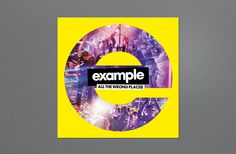 Example - All the Wrong Places  Design - Jonny Costello  Images © Sony Music Entertainment UK Limited ©fluidesign