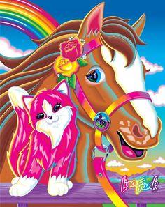 Lisa Frank kitten and pony!