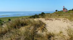 Magnificent panoramic view from dune's top of Vlieland by B℮n, via Flickr