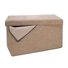 Simplify Double Folding Upholstered Storage Ottoman Tan 2 for  dining room table  size is perferct
