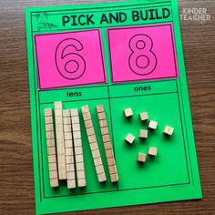 Value Math Centers Place Value Math Center activities to teach students how to write, model and draw numbers using tens and ones.Place Value Math Center activities to teach students how to write, model and draw numbers using tens and ones. Math Place Value, Place Values, Place Value Centers, Math Numbers, Decomposing Numbers, Teen Numbers, Math School, School Essay, Public School