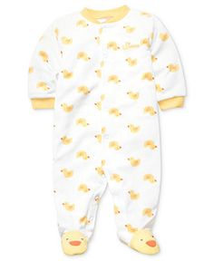 Carter's Baby Coverall, Baby Boys or Baby Girls Duck-Print Footed Coverall - Kids Baby Boy (0-24 months) - Macy's