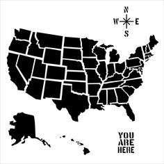 US Map To Print And Color For Kids Pinterest United States - Giant us map stencil