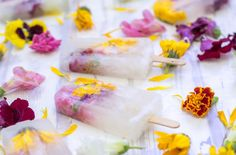 flower ice candy