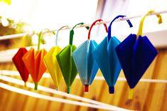 How to make paper umbrella origami