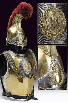 A Carabinier's cuirass and helmet, dating: third quarter of the 19th Century  provenance: France