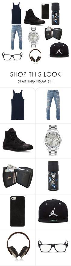 """Untitled #29"" by samyahwhitlock ❤ liked on Polyvore featuring Boris Bidjan Saberi, 3x1, Converse, Rolex, Axe, Polo Ralph Lauren, Jordan Brand, Pryma, Prada and men's fashion"