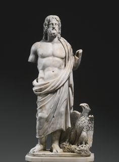 A Marble Figure of Zeus, Roman Imperial, Asia Minor, 2nd/3rd Century A.D.