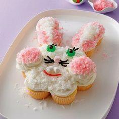 Pull-Apart Bunny Cake Recipe #bunny #cake  Adorable!!