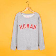 Grey & Red Scoop Neck #HumanSweatshirt – Selfish Mother