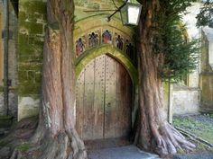 Medieval church door in Gloucestershire believed to be the inspiration for Tolkien's entrance to Moria