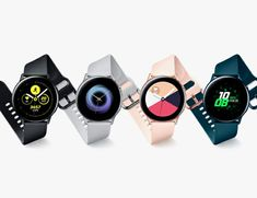 Samsung's Galaxy Watch Active Is A Personal Coach On Your Wrist With Health Advice And Data Wireless Battery Charger, Watches Photography, Running Watch, Samsung Mobile, New Phones, Smart Phones, Health Advice, Watch Case, Sport Watches