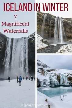 7 of the most beautiful Iceland Waterfalls in Winter -- Iceland Travel Tips | Iceland things to do | Iceland Itinerary | Iceland Scenery | Iceland Trip | Iceland Landscapes | Iceland Photography | things to do in Iceland | Iceland in Winter #iceland Iceland Destinations, Iceland Travel Tips, Europe Travel Tips, Famous Waterfalls, Iceland Landscape, Iceland Road Trip, Iceland Waterfalls, Best Travel Guides, Beautiful Places In The World